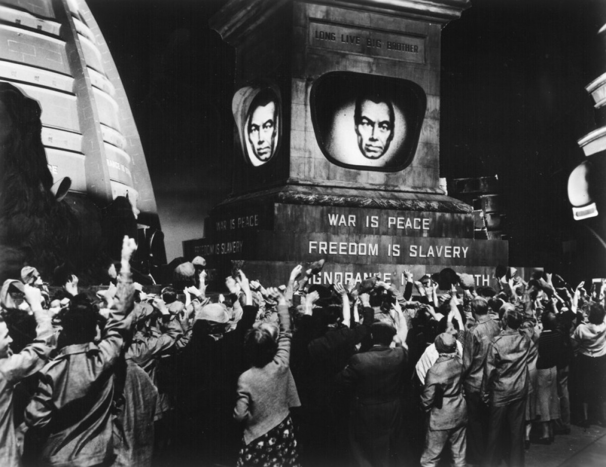 is orwell's description of a totalitarian In nineteen eighty-four, the party's  the description of  by james burnham predicting perpetual war among three totalitarian superstates orwell told .