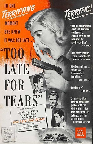 Too Late For Tears DVD